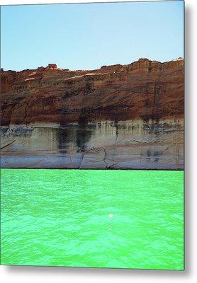 Cliff At Lake Powell Metal Print