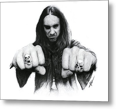 Cliff Burton Metal Print