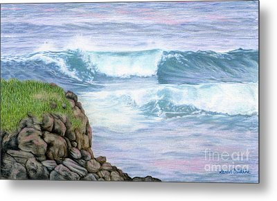 Cliff By The Sea Metal Print by Sarah Batalka