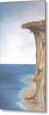 Metal Print featuring the painting Cliff by Diane Daigle