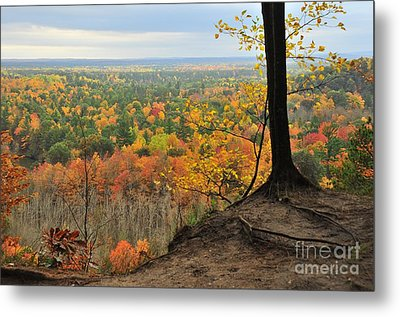 Cliff Top View Of The High Rollaways Metal Print by Terri Gostola