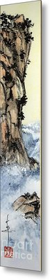 Cliff With Waves Metal Print by Linda Smith