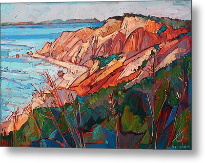 Cliffs In Color Metal Print by Erin Hanson