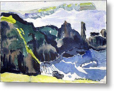 Cliffs In The Sea Metal Print