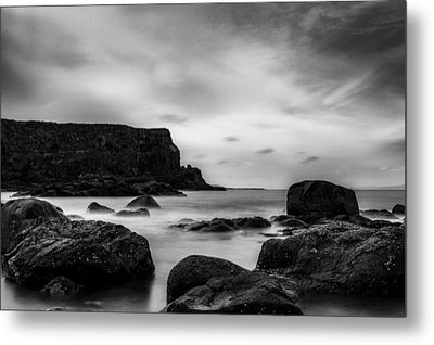 Cliffs Near Causeway Metal Print