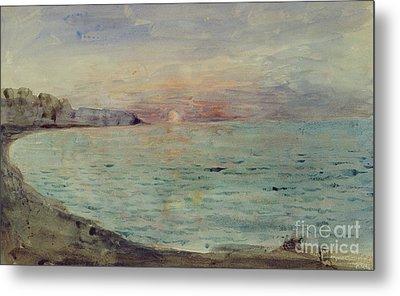 Cliffs Near Dieppe Metal Print by Ferdinand Victor Eugene Delacroix