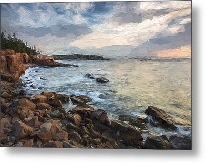 Cliffs Of Acadia II Metal Print