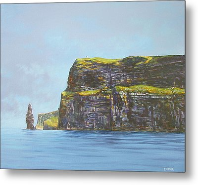 Cliffs Of Moher From The Sea Metal Print by Eamon Doyle