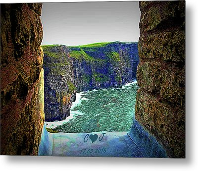 Cliffs Personalized Metal Print