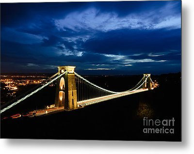 Metal Print featuring the photograph Clifton Suspension Bridge, Bristol. by Colin Rayner
