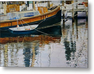Clinging Dingy Metal Print by Karol Wyckoff