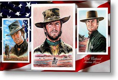 Clint Eastwood American Legend 2nd Ver Metal Print