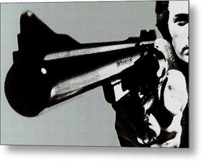 Clint Eastwood Big Gun Metal Print