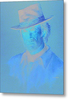 Clint Eastwood Metal Print by Charles Vernon Moran