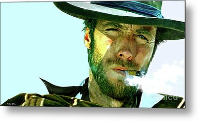 Clint Eastwood - The Man With No Name Metal Print