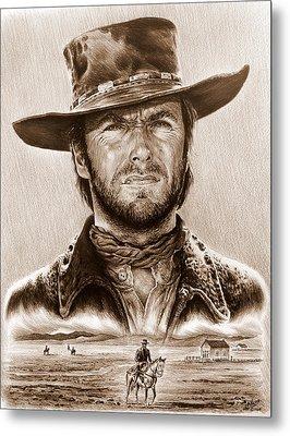 Clint Eastwood The Stranger Metal Print