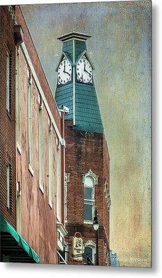Clock Tower Downtown Statesville North Carolina Metal Print