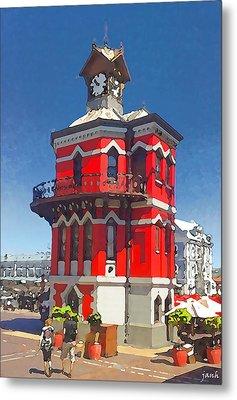 Clock Tower Metal Print by Jan Hattingh