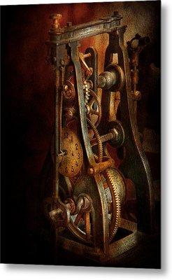 Clockmaker - Careful I Bite Metal Print by Mike Savad