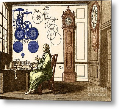 Clockmaker Metal Print by Photo Researchers