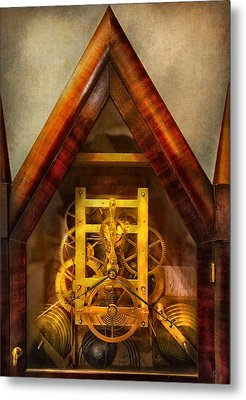 Clocksmith - Clockwork  Metal Print by Mike Savad