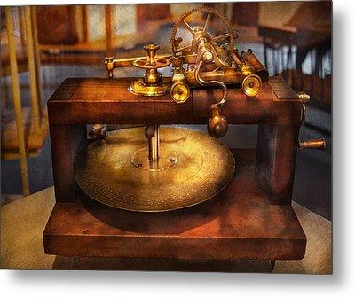 Clocksmith - The Gear Cutting Machine  Metal Print by Mike Savad