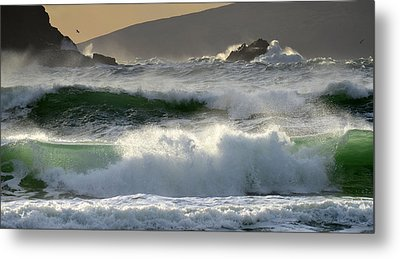 Clogher Beach In Kerry Metal Print by Barbara Walsh