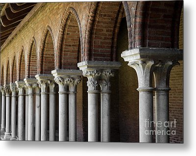 Metal Print featuring the photograph Cloister, Couvent Des Jacobins by Elena Elisseeva