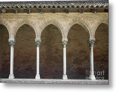 Metal Print featuring the photograph Cloister In Couvent Des Jacobins by Elena Elisseeva