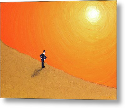 Metal Print featuring the painting Close To The Edge by Thomas Blood
