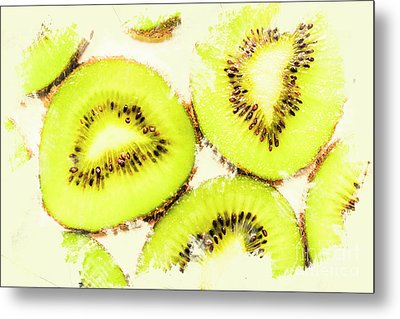 Close Up Of Kiwi Slices Metal Print by Jorgo Photography - Wall Art Gallery