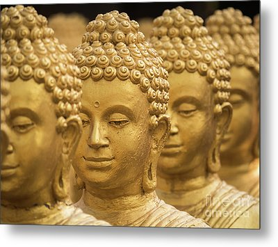 Close-up On Head Buddha Statue, Soft Focus. Metal Print by Tosporn Preede