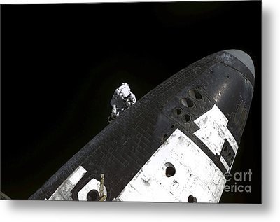 Close-up View Of The Nose Cone On Space Metal Print by Stocktrek Images