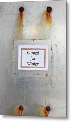 Closed For Winter Metal Print by Tom Gowanlock