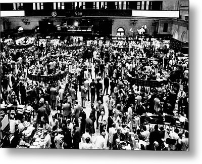 Closing Time On The Trading Floor Metal Print by Everett