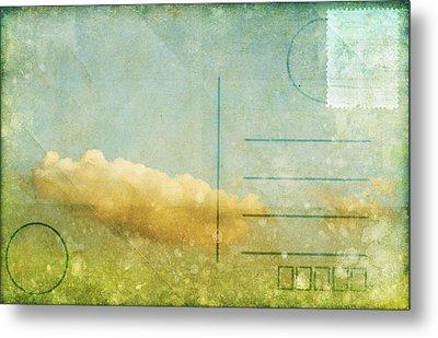 Cloud And Sky On Postcard Metal Print