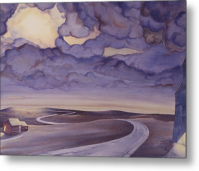 Cloud Break On The Northern Plains I Metal Print