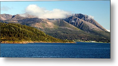 Cloud-capped Mountains Metal Print