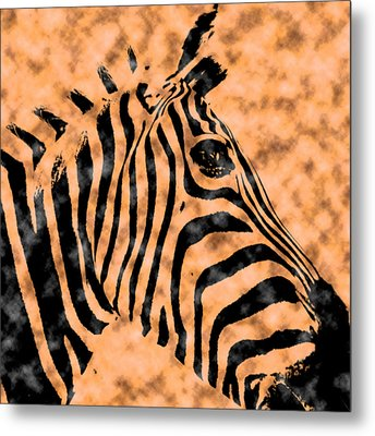 Cloud Face Zebra Metal Print