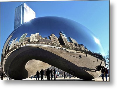 Metal Print featuring the photograph Cloud Gate In The Sun by Sheryl Thomas