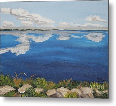 Cloud Lake Metal Print by Annette M Stevenson