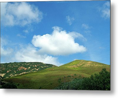 Cloud Over Hills In Spring Metal Print by Kathy Yates