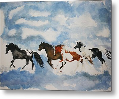 Cloud Runners Metal Print