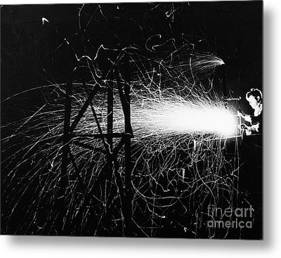 Metal Print featuring the photograph Cloud Seeding, 1948 by Granger