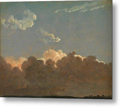 Cloud Study. Distant Storm Metal Print by Simon Denis