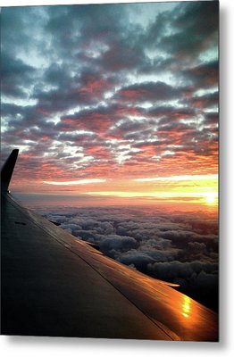 Cloud Sunrise Metal Print by Josy Cue