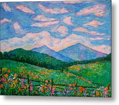 Cloud Swirl Over The Peaks Of Otter Metal Print by Kendall Kessler