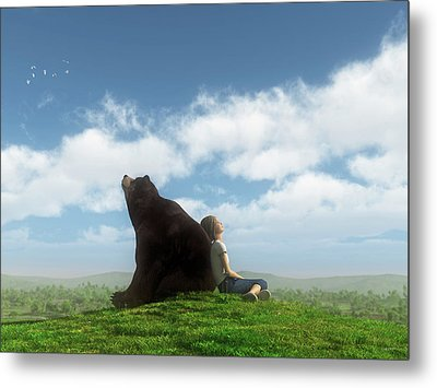 Cloud Watchers Metal Print by Cynthia Decker