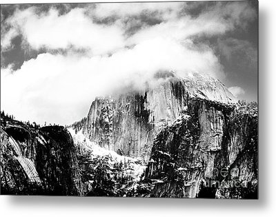 Clouded Half Dome Metal Print by Charmian Vistaunet