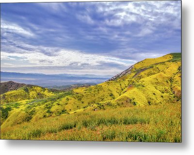 Metal Print featuring the photograph Clouds Above Temblor Range by Marc Crumpler